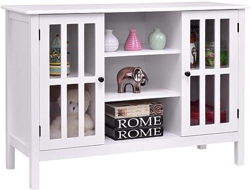 Custpromo 45″ TV Stand Console Storage Cabinet