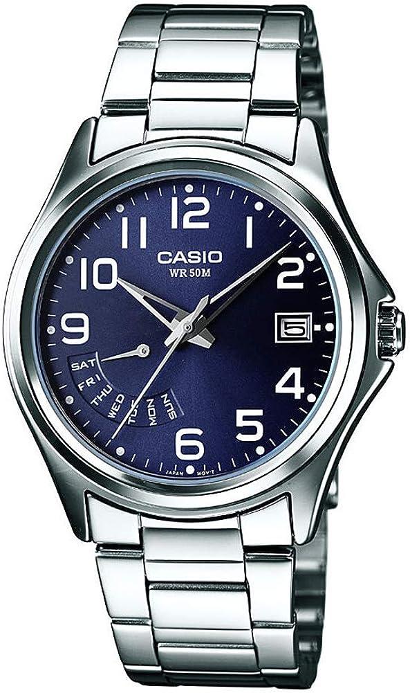 Casio Reloj Analógico para Hombre de Cuarzo con Correa en Acero Inoxidable MTP-1369PD-2BVER