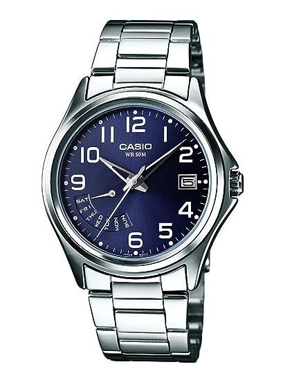 bac6585b7bb2 Casio Reloj Analógico para Hombre de Cuarzo con Correa en Acero Inoxidable  MTP-1369PD-2BVER  Amazon.es  Relojes