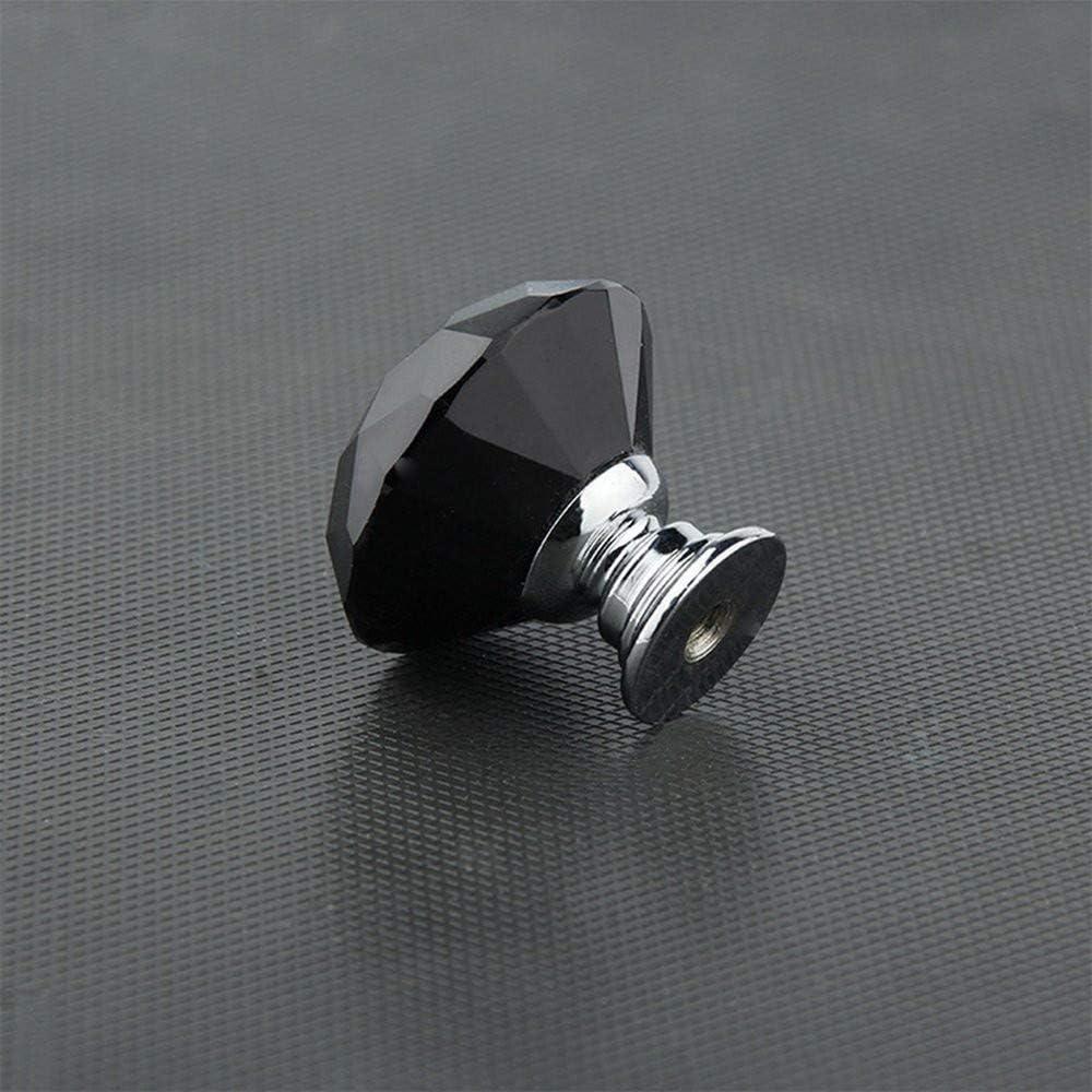 WOMAO Kristall Legierung Konstruktion Diamant Form Schwarz Einzeln M/öbelgriffe M/öbelkn/öpfe Schubladenkn/öpfe T/ürkn/öpfe f/ür Dusche Toilette