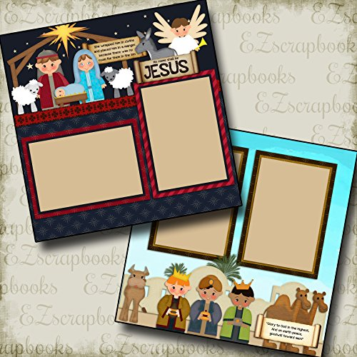 (NATIVITY - Premade Scrapbook Pages - EZ Layout 436)