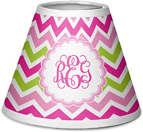 RNK Shops Pink Green Chevron Chandelier Lamp Shade Personalized