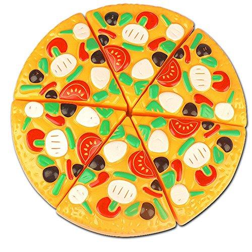 Westeng Jouet à Couper Pizza En Plastique Jouets de fruits Jouet éducatif pour Enfant bébé - 1 pizza