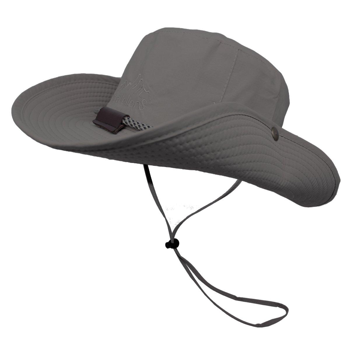 f10d7564689 OMECHY Waterproof Outdoor Bucket Hat Summer UV Protection Sun Cap Boonie  Fishing Camouflage Hat