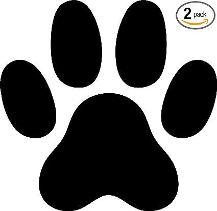 925ec040a15d Cat Paw Print Silhouette (Black) (Set of 2) Premium Waterproof Vinyl Decal