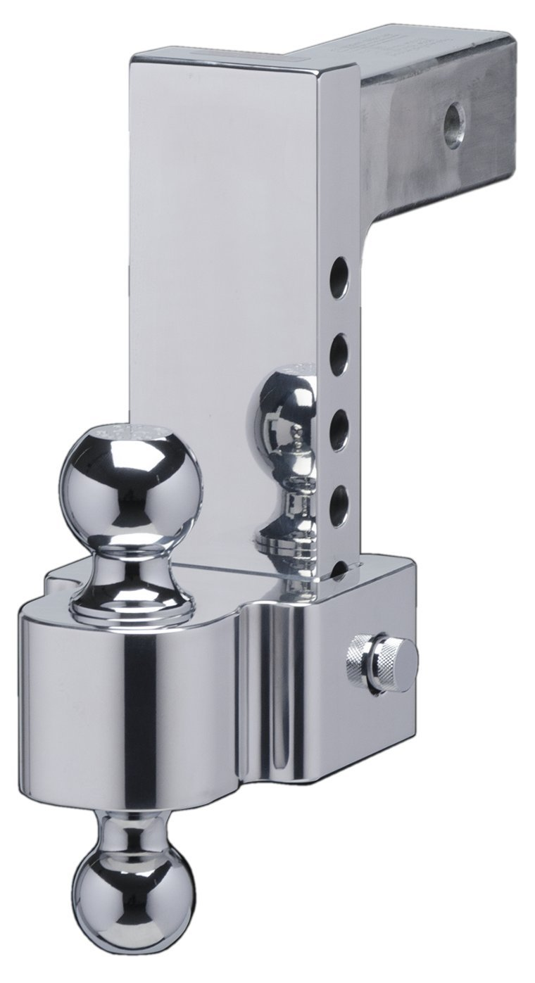 and Chrome Plated Balls 2.5 Inch Shank Fastway FLASH 42-00-2625 E Series HD Adjustable Aluminum Ball Mount with 6 Inch Drop