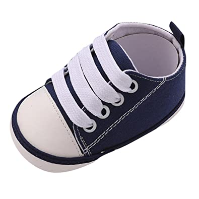 Toddler Canvas Shoes FAPIZI Cute Boy and Girl Twins Soft Newborn Anti-Slip Baby Shoes Mary Jane