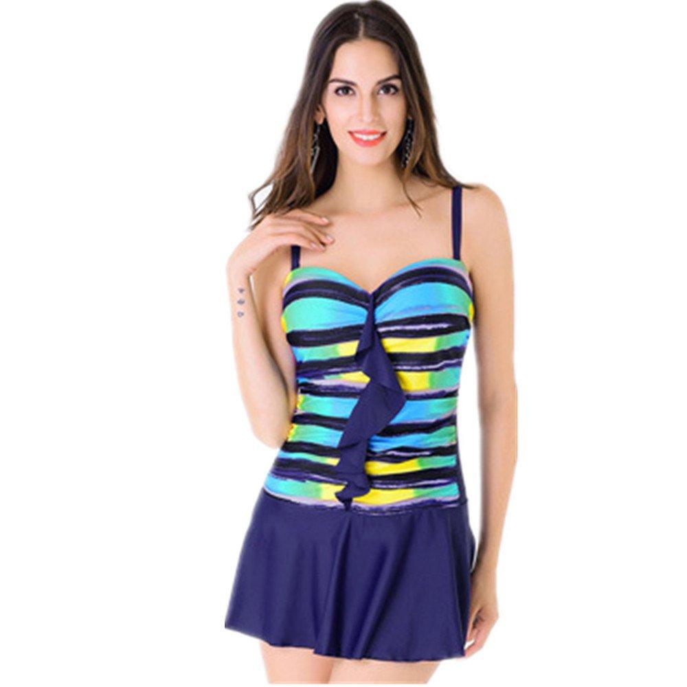Ms. 水着 ドレス 保守的な 水着 スパ 休日 水着 に適して 水泳 ウェディング エクササイズ スパ (Color : Blue, Size : XXXXL) B07DYVC2MX XXXXL|Blue