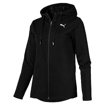 70b09dc0bd Puma Modern Sport FZ Logo Hoody Sweat-Shirts Femme, Cotton Black, FR (