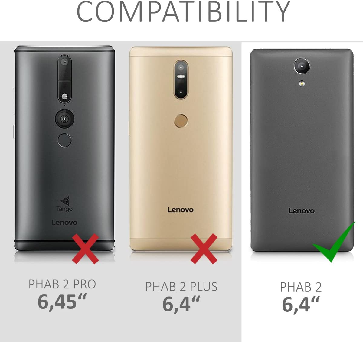kwmobile Funda Compatible con Lenovo Phab2: Amazon.es: Electrónica