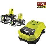 Ryobi Batterie rbc18ll415et Chargeur, 18V, 1pièce, noir/vert, 5133002600