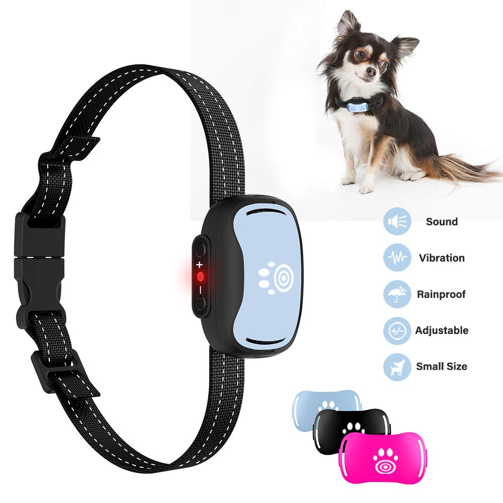 2019 Small Dog Bark Collar, Humane 7-Level Sensitivity Training Collar with Beep, Vibration, No Shock Collar for Medium Dogs, Safe Dog No Bark Collars by Pumila