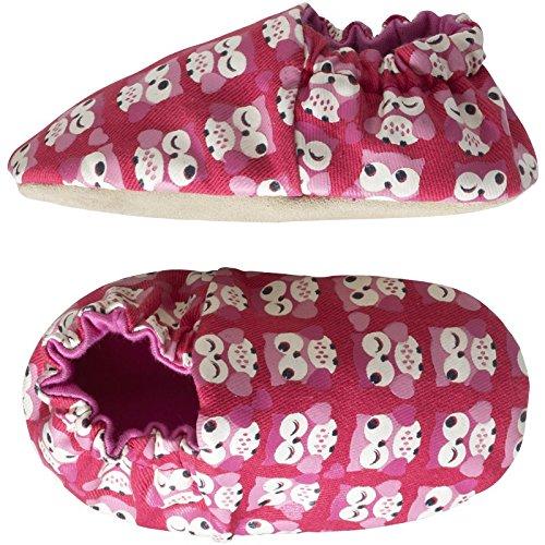 Tichoups chaussons bébé en tissu kaleido'chouette