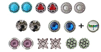 Other Fashion Jewelry Fashion Jewelry Fits Ginger Snap Mini Snaps Rhinestone Button Petite Jewelry Magnolia Vine 12mm Clients First