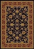 United Weavers of America Reza Area Rug, 7'10'' x 10'6'', Black