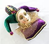 Jester Lady Royal Pillow Tree Ornament Mardi Gras Decor