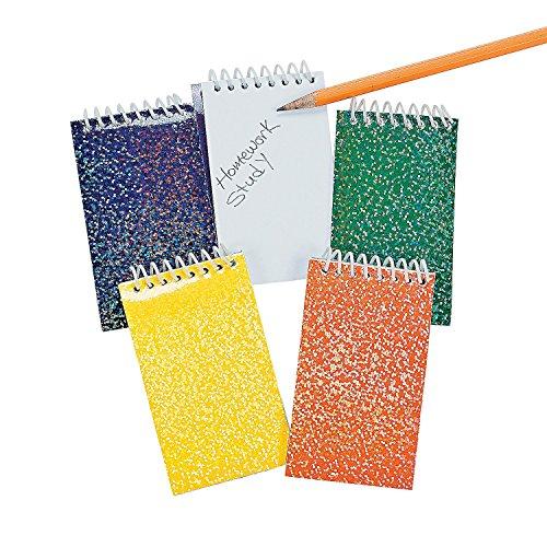 - Fun Express Prism Spiral Notepads, Pack of 6 (12 Per Poly Bag Header, 72 Total)