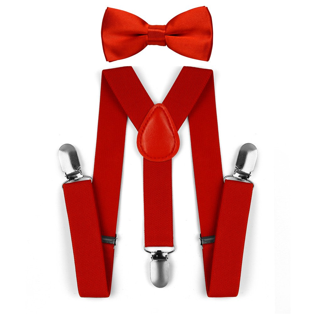 4f45ae06d Juego de corbata para corbata de lazo de tirantes elásticos ajustables para  niños. Ampliar imagen