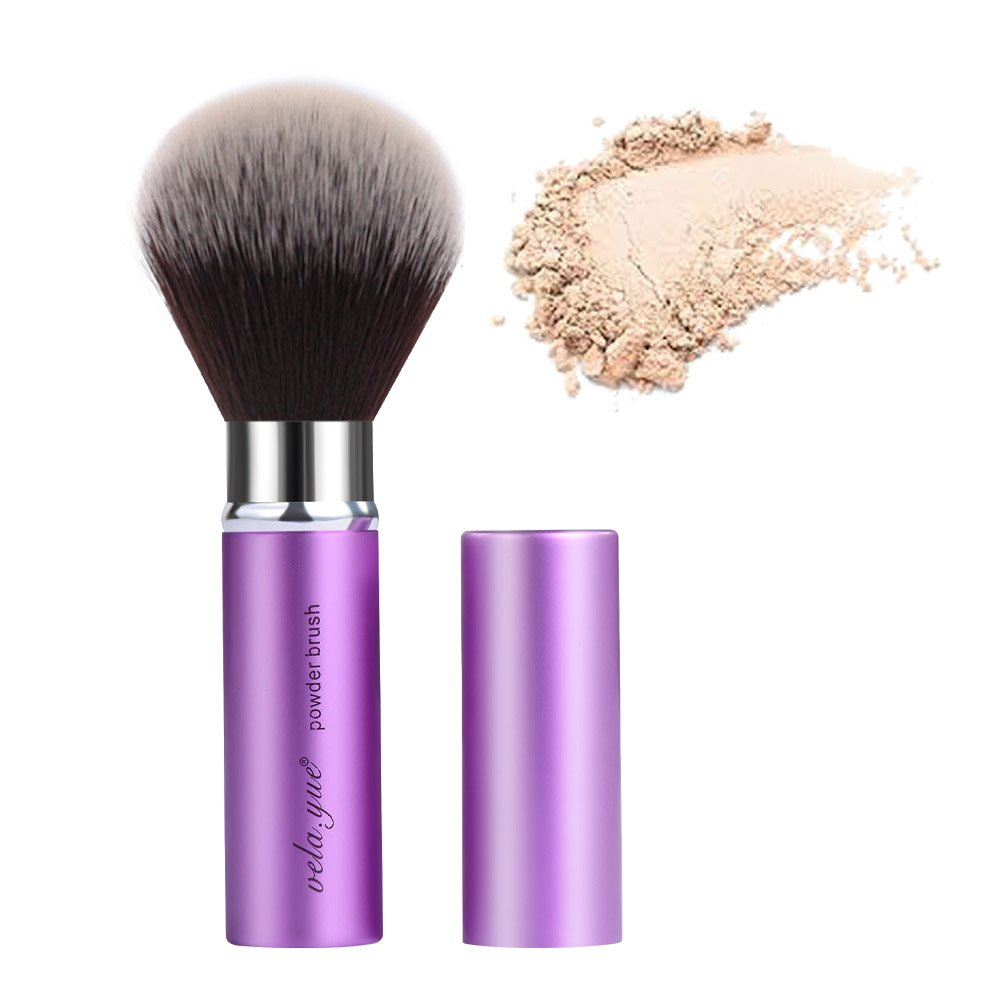 Retractable Angled Face Blush Bronzer Makeup Brush VY