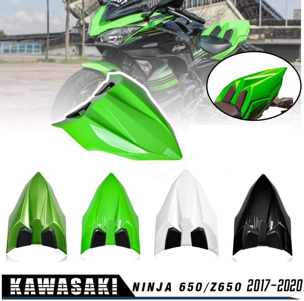 Lorababer NINJA 650 Z650 17 18 19 20 Accessories Rear Seat Cowl Fairing Cover Cowl ABS Plastic Green Black White for Kawasaki NINJA650 Z 650 2017 2018 2019 2020 (Dark green)