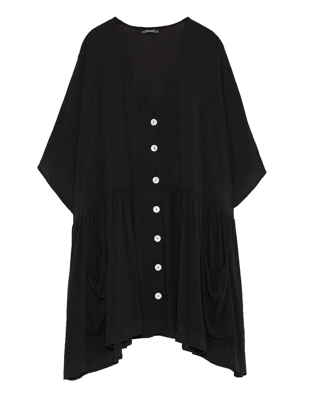 e9b31a35 Zara Women Gathered Dress 5216/246 at Amazon Women's Clothing store: