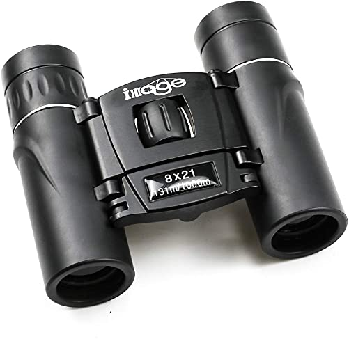 Mini Binoculars for Adults 8×21 Compact high-Definition Low-Light Night Vision Pocket Telescope for Outdoor Travel, Concerts, Bird Watching and Hunting