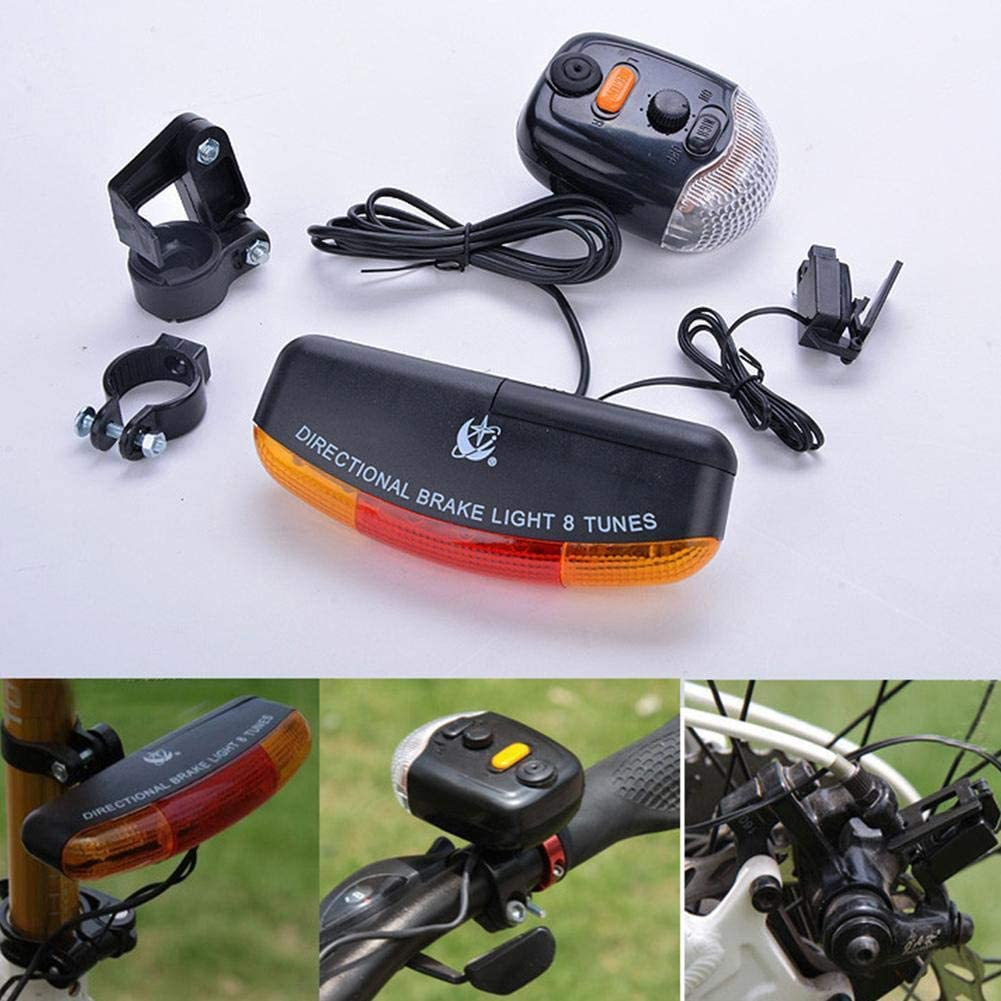 SharpointHome Bicycle Turn Signal Bike Electric Light Horn Bell Bicycle Call Turn Signal Lamp Brake Warning Light
