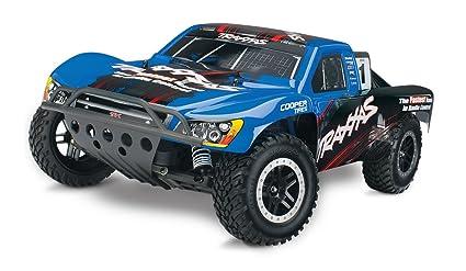 Traxxas Nitro Slash: 2WD Short Course Racing Truck with TQi 2 4 GHz Radio &  TSM (1/10 Scale), Blue