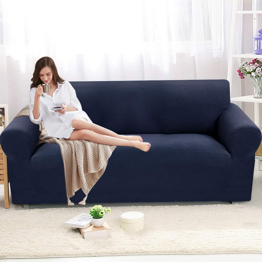 Fundas de Sofás Elástica de Punto 3 Plazas Universal Protector del sofá Se Adapta a Toda la Tela Cubierta Cubierta de Muebles Elegante y Duradera para ...