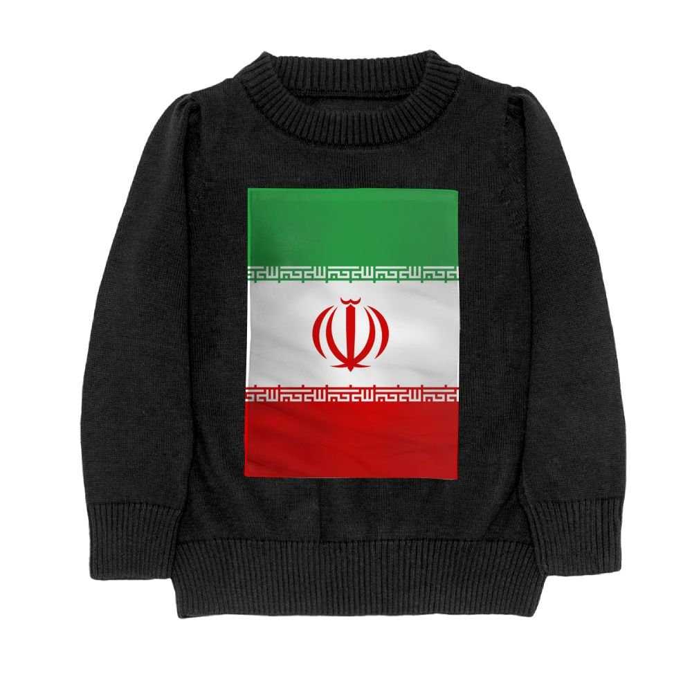 DTMN7 Flag of Iran Teens Sweater Long Sleeves Crew-Neck Youth Athletic Casual Tee Junior Boys