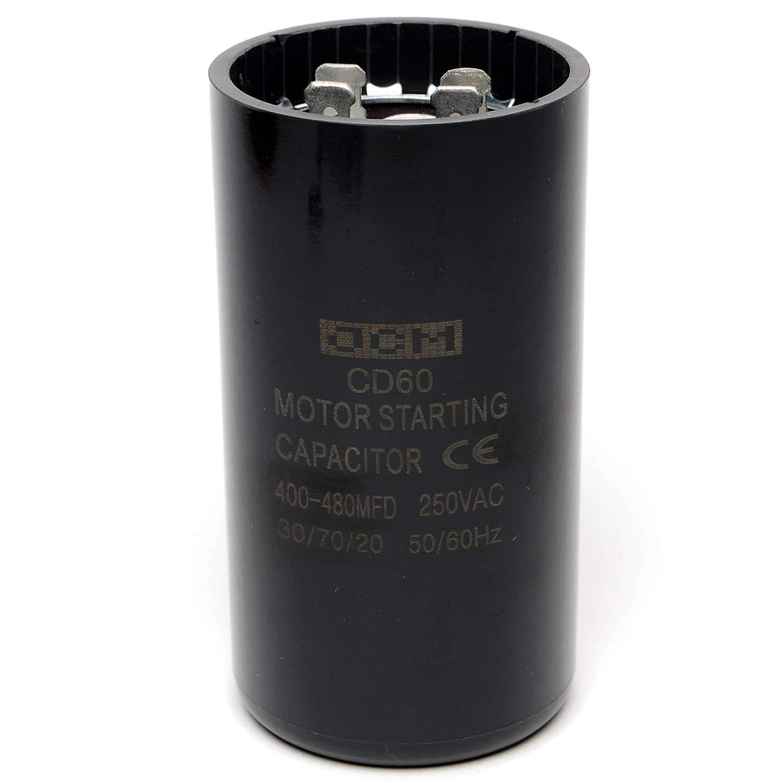 Packard Motor Start Capacitor 400-480 MFD uF 165v PSMJ400