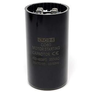JCM Motor Start Capacitor 400-480 uf MDF 220-250V AC 50/60 Hz Round CD60