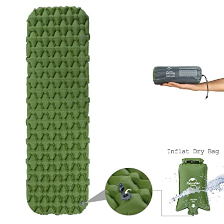 Naturehike Improved Fast Inflating Camping Sleeping Air Pad – with Inflat Dry Bag – Large Size Thick Air Mat with Carry Bag for Backpacking Outdoor Hiking
