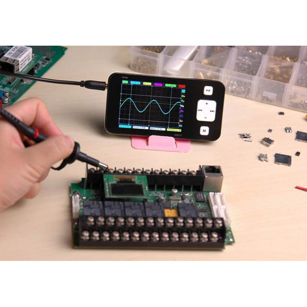 SM SunniMix Portable Mini 2 Channel Digital Oscilloscope Pocket Size USB Interface Colorful TFT Display 8MB Memory Storage Bandwidth 200KHz 1MSa//s Max