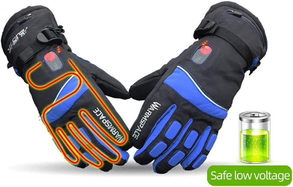 Heated Motorcycle Gloves with 3 Heating Temperature Rechargeable Electric Battery Heated Gloves//Heated Gloves for Men /& Women