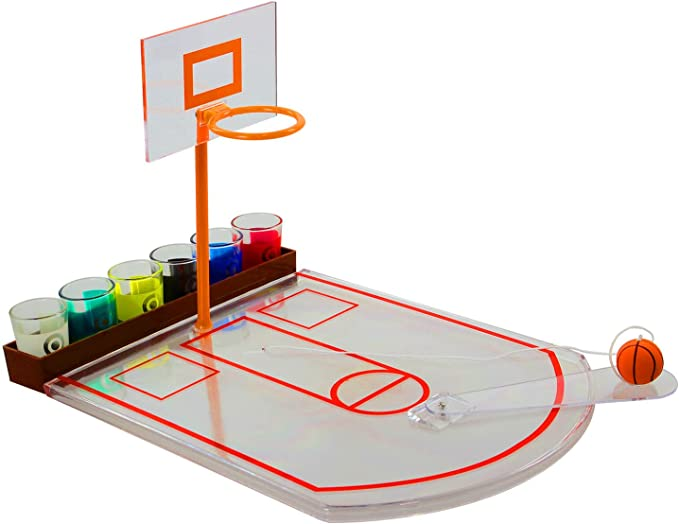 Basketball Classic Adult Drinking Game Hoop Set, Ball & Shot Glasses: Amazon.es: Juguetes y juegos