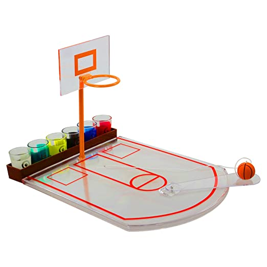 Basketball Classic Adult Drinking Game Hoop Set, Ball & Shot ...