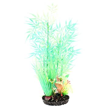 Sourcing Map Kunstliche Bambus Leaf Design Aquarium Deko