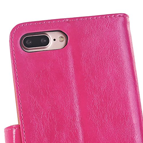 Craze Cheval Texture Motif Wallet Stand Case Retro Flip Portefeuille Stand Case pour Apple IPhone 7 Plus ( Color : 1 , Size : IPhone7 Plus )