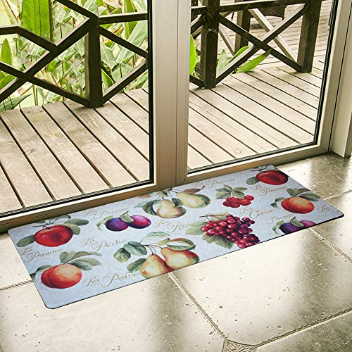 Ustide Kitchenware Selections Fruits Design Floor Runners Waterproof Non-slip Kitchen Mat (Fruit Design Kitchen)