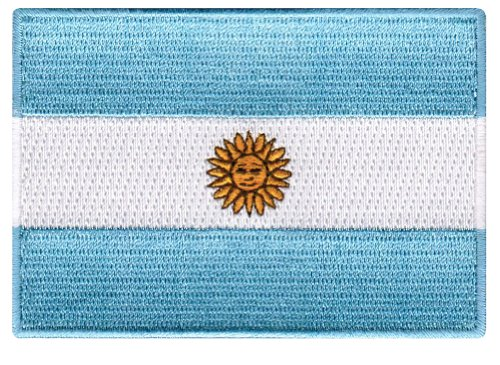 Argentina Flag Embroidered Patch Argentinian Iron-On National ()