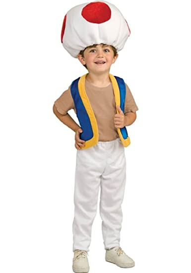Super Mario Toad Child Costume 2-4 Toddler  sc 1 st  Amazon.com & Amazon.com: Super Mario Toad Child Costume 2-4 Toddler: Baby