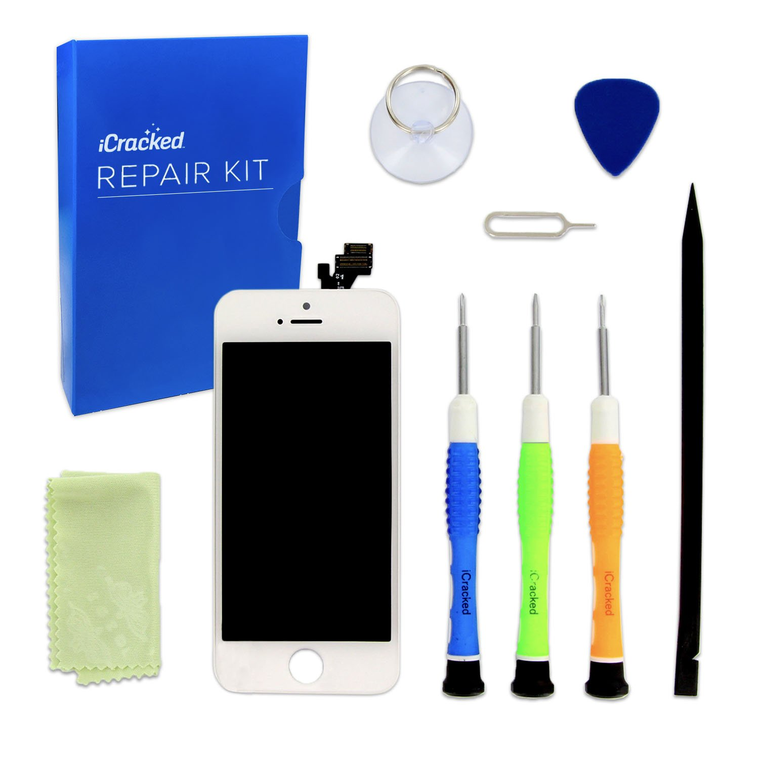 Amazon.com: iCracked iPhone 5 Screen Replacement Kit (White): Cell Phones &  Accessories