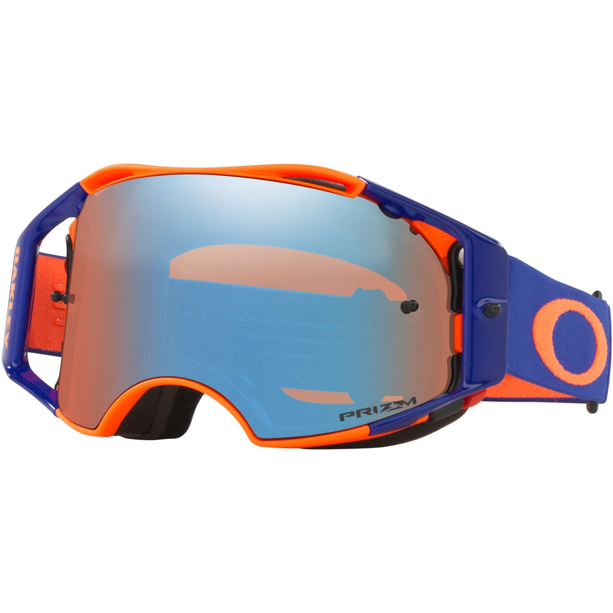 Oakley ABMX Orange Blue with Prizm MX Sapphire unisex-adult Goggles (Orange, Medium), 1 Pack