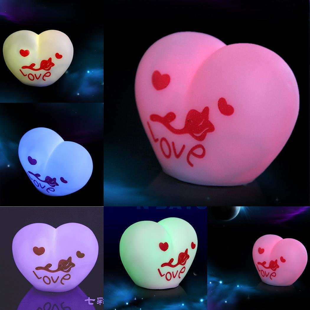 meflying B07FG7Q3L2 heart-shape LEDナイトライトランプカラーChangingギフトおもちゃNight Lights heart-shape Lights B07FG7Q3L2, 戸畑区:38f94cc8 --- ijpba.info