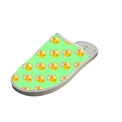 Grand Scorn Emoji Memory Foam House Washable Anti-slip Indoor Slippers