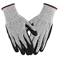 Lixada Working Gloves Abrasion Resistant Anti Cutting Piercing Safety Gloves for Gardening Farming Motorcycle Riding