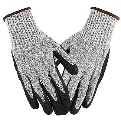 Lixada Working Gloves Abrasion Resistant Anti Cutting Piercing Safety Gloves for Gardening Farming Motorcycle Riding