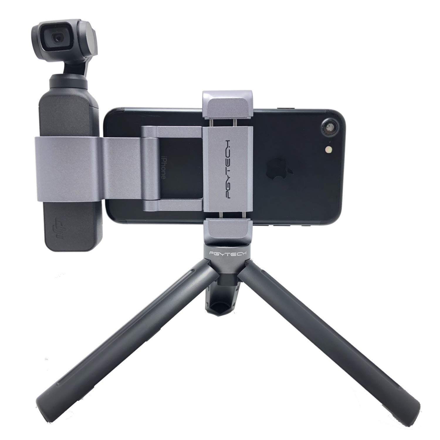 PGYTECH OSMO Pocket Phone Holder+ Expansion Accessories with Tripod Mini Compatible with DJI OSMO Pocket Accessories by PGYTECH