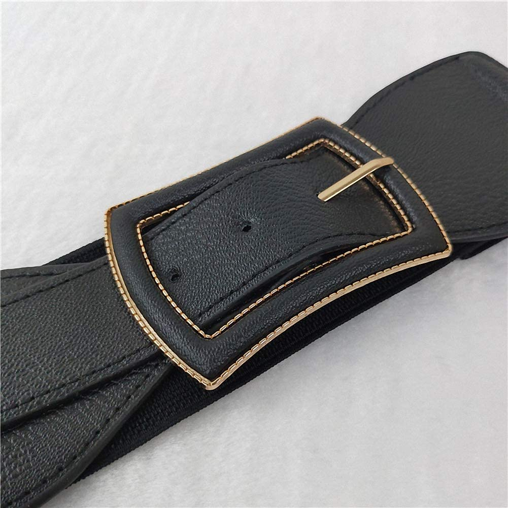 High Waist Wide Belt Stretch Cinch Wrap Elastic Decorative Dress Band Belt for Women 25-32 25 for XXS-S